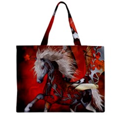 Awesome Steampunk Horse With Wings Medium Tote Bag