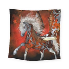 Awesome Steampunk Horse With Wings Square Tapestry (small)