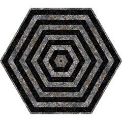 Stripes2 Black Marble & Gray Stone Mini Folding Umbrellas