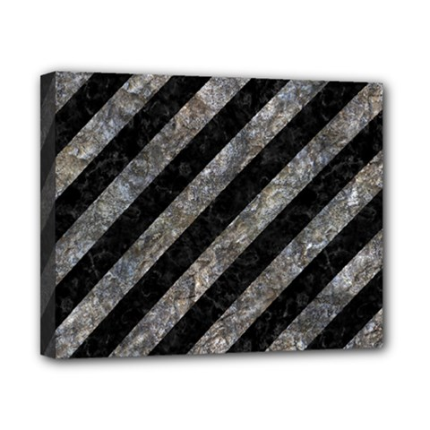 Stripes3 Black Marble & Gray Stone Canvas 10  X 8