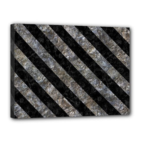 Stripes3 Black Marble & Gray Stone (r) Canvas 16  X 12