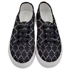 Tile1 Black Marble & Gray Stone Women s Classic Low Top Sneakers