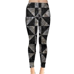 Triangle1 Black Marble & Gray Stone Leggings