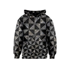 Triangle1 Black Marble & Gray Stone Kids  Pullover Hoodie