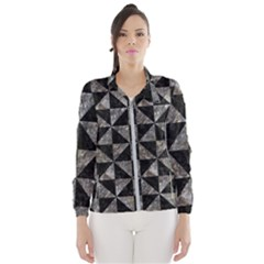 Triangle1 Black Marble & Gray Stone Wind Breaker (women)