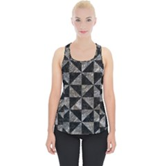 Triangle1 Black Marble & Gray Stone Piece Up Tank Top