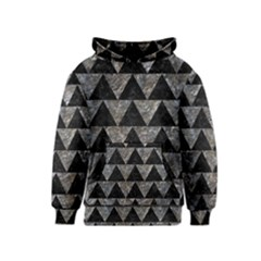 Triangle2 Black Marble & Gray Stone Kids  Pullover Hoodie