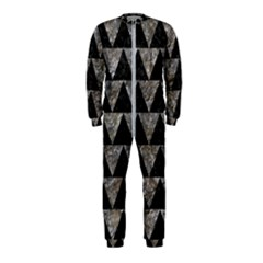 Triangle2 Black Marble & Gray Stone Onepiece Jumpsuit (kids)