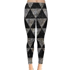 Triangle3 Black Marble & Gray Stone Leggings