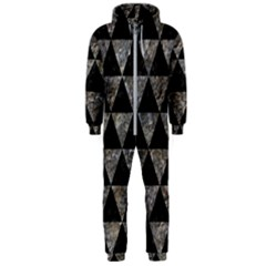 Triangle3 Black Marble & Gray Stone Hooded Jumpsuit (men)