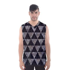 Triangle3 Black Marble & Gray Stone Men s Basketball Tank Top