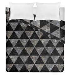 Triangle3 Black Marble & Gray Stone Duvet Cover Double Side (queen Size)