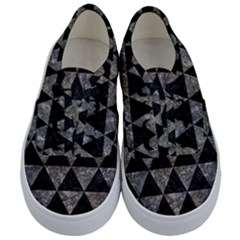 Triangle3 Black Marble & Gray Stone Kids  Classic Low Top Sneakers