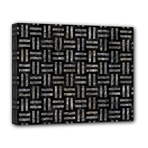 Woven1 Black Marble & Gray Stone Deluxe Canvas 20  X 16