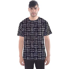 Woven1 Black Marble & Gray Stone Men s Sports Mesh Tee