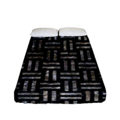 Woven1 Black Marble & Gray Stone Fitted Sheet (full/ Double Size)
