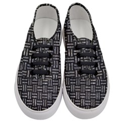 Woven1 Black Marble & Gray Stone Women s Classic Low Top Sneakers