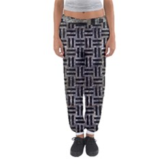 Woven1 Black Marble & Gray Stone (r) Women s Jogger Sweatpants