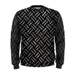 Woven2 Black Marble & Gray Stone Men s Sweatshirt