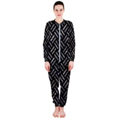 Woven2 Black Marble & Gray Stone Onepiece Jumpsuit (ladies)