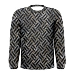 Woven2 Black Marble & Gray Stone (r) Men s Long Sleeve Tee