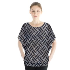 Woven2 Black Marble & Gray Stone (r) Blouse
