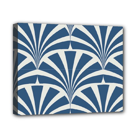 Teal,white,art Deco,pattern Canvas 10  X 8