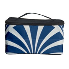 Teal,white,art Deco,pattern Cosmetic Storage Case