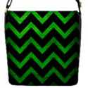 CHEVRON9 BLACK MARBLE & GREEN BRUSHED METAL Flap Covers (S)  View1