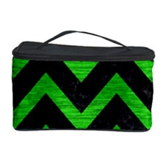 Chevron9 Black Marble & Green Brushed Metal Cosmetic Storage Case
