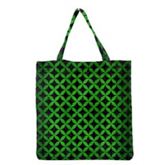 Circles3 Black Marble & Green Brushed Metal Grocery Tote Bag