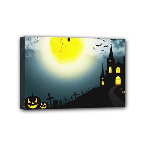 Halloween Landscape Mini Canvas 6  X 4