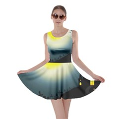 Halloween Landscape Skater Dress