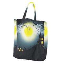 Halloween Landscape Giant Grocery Zipper Tote