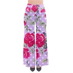 Shabby Chic,pink,roses,polka Dots Pants