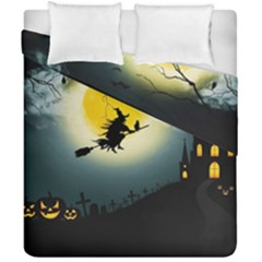 Halloween Landscape Duvet Cover Double Side (california King Size)