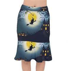 Halloween Landscape Mermaid Skirt