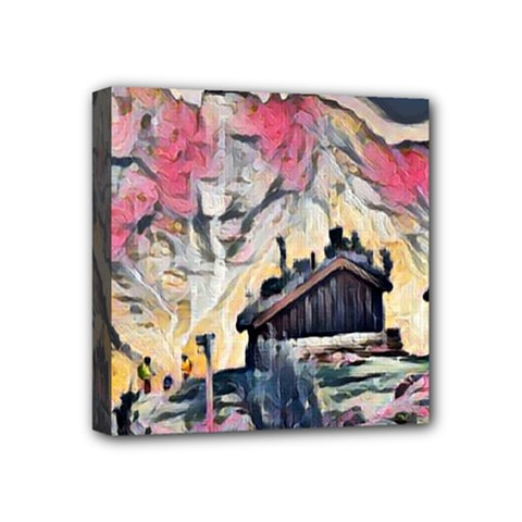 Modern Abstract Painting Mini Canvas 4  X 4