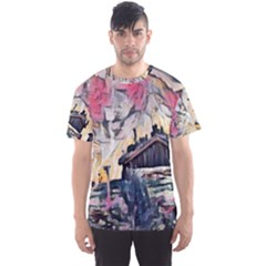 Modern Abstract Painting Men s Sports Mesh Tee