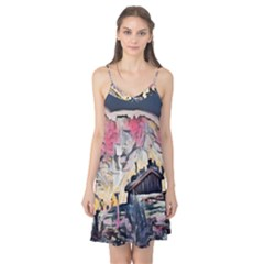 Modern Abstract Painting Camis Nightgown