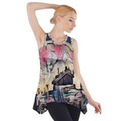 Modern Abstract Painting Side Drop Tank Tunic