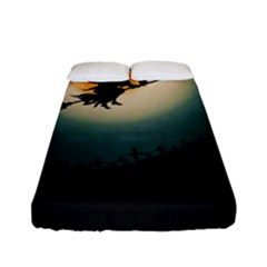Halloween Landscape Fitted Sheet (full/ Double Size)