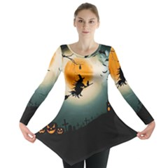 Halloween Landscape Long Sleeve Tunic