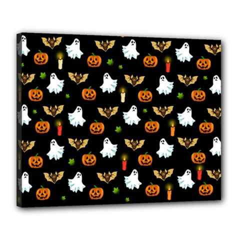 Halloween Pattern Canvas 20  X 16