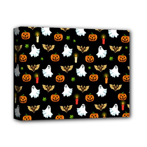 Halloween Pattern Deluxe Canvas 14  X 11