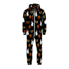 Halloween Pattern Hooded Jumpsuit (kids)