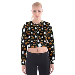 Halloween Pattern Cropped Sweatshirt