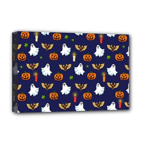 Halloween Pattern Deluxe Canvas 18  X 12