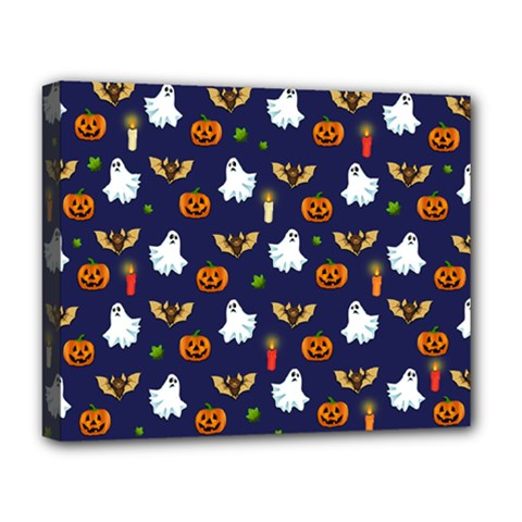 Halloween Pattern Deluxe Canvas 20  X 16