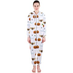 Halloween Pattern Hooded Jumpsuit (ladies)